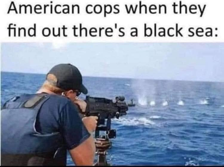 American cops when they found out there's a black sea