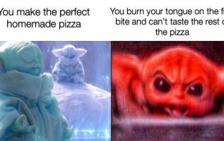 burn your tongue on the first bite