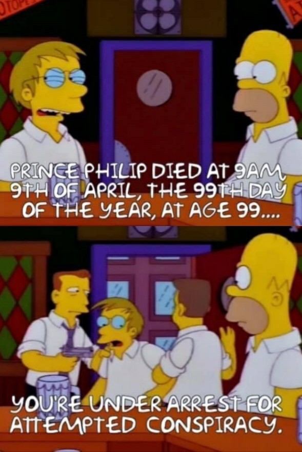 Simpson meme about prince philip and the attempted conspiracy