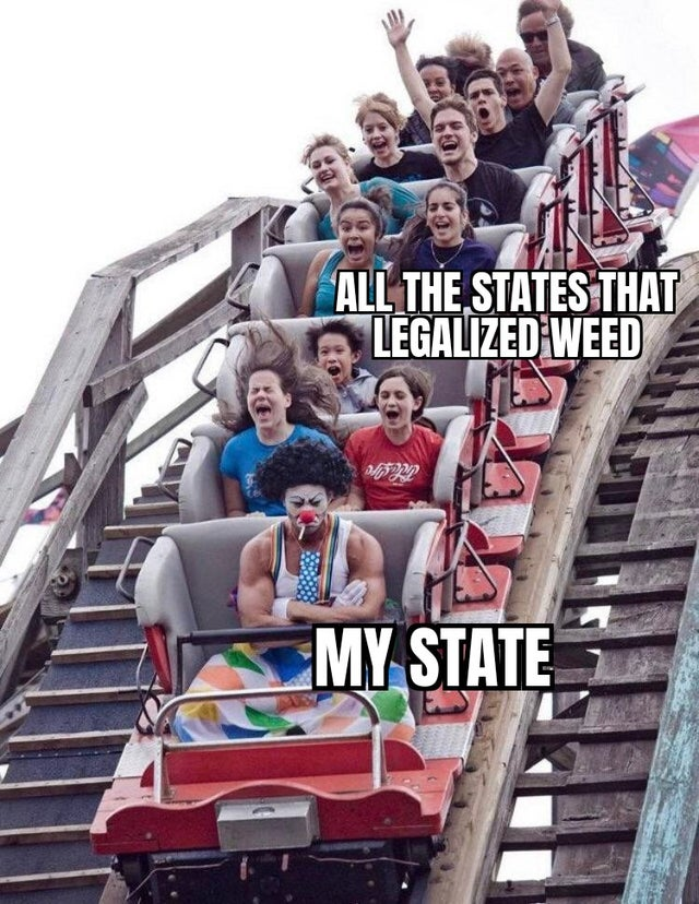 All the states that legalized weed. My state.