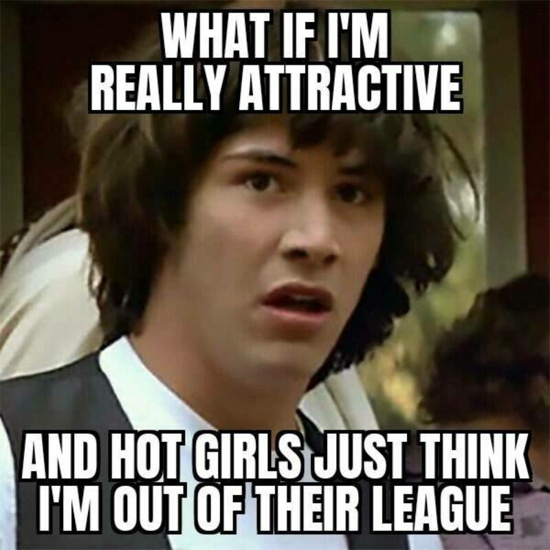 Old meme of john wick and that movie about the driving bus that can explode. What if im really attractive?