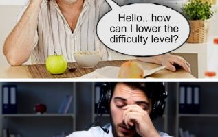 lower difficulty level
