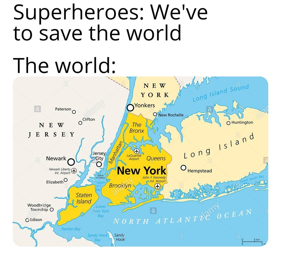 Superheroes: We've to save the world.