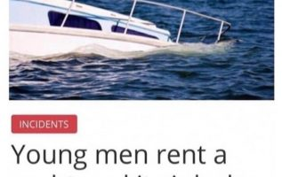 young men rent yachht sinks excess prostitutes