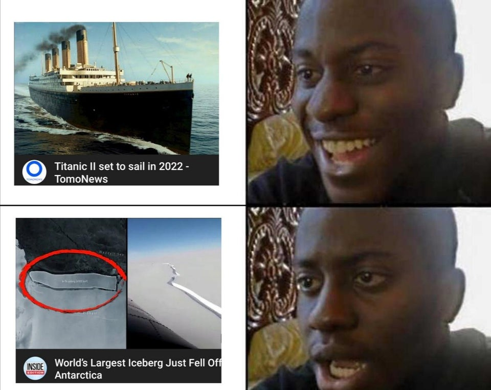 Titanic 2 set to sail in 2022. World's largest iceberg just fell off.